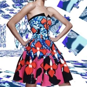 NWT Peter Pilotto abstract floral dress - sz 4